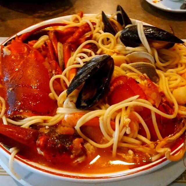 Seaffod w pasta